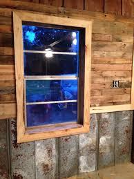 pallet walls tin chair rail cedar accent white pine trim