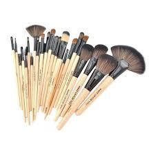 puna cosmetic makeup brush set 24 pieces with black