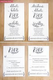Party Rsvp Template Rustic Wedding Invitation Template Leaf Design