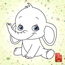 Elephant Coloring Page Coloring Pages Elephant Animal Elephant