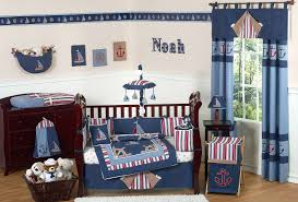 navy blue nautical baby crib bedding set 9pc infant nursery collection sailboats anchor