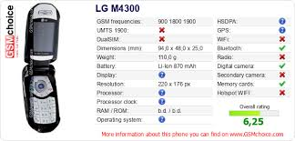 LG M4300 technical specifications ...