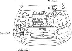 1999 mercury truck villager wagon 3 3l mfi sohc 6cyl repair windshield wiper motor print removal installation front click image to see an enlarged view