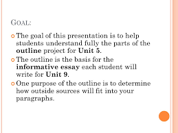 u nit s eminar the unit project outline of an informative an informative essay 2 g