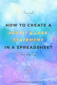 Create A Profit And Loss Statement How To Create A Basic Profit Loss Statement Free Download