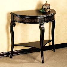 table design black console on half round picture