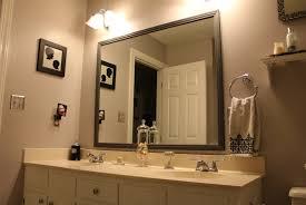 Bathroom Framed Mirrors Framing Bathroom Mirror Framed Mirror Diy Bathroom Mirror Frame