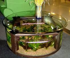 fishtank furniture. Furniture:Interior Design With Round Aquarium Coffee Table Glass Top Neda Green Modern Sofa Fishtank Furniture