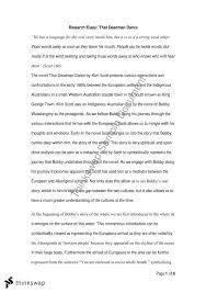 research essay that deadman dance engl n  research essay that deadman dance