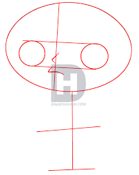 description in this first step you will be drawing out the guidelines and shapes start by drawing a big football shape for stewie s head and two round
