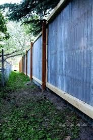 corrugated fence panels metal simple