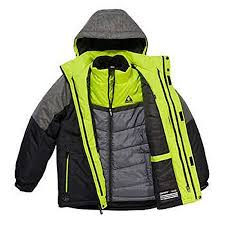Gerry 3 In 1 System Jacket Hooded Coat With Inner Jacket Knit Beanie For Boys Medium 10 12 Black