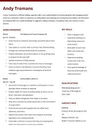 Restaurant Waiter Resumes Waiter Resume Template Waiter Resume Sample Luxury Athletic Resume
