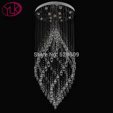 decoration modern crystal chandelier interesting youlaike luxury flush mount staircase pertaining to 3 from modern