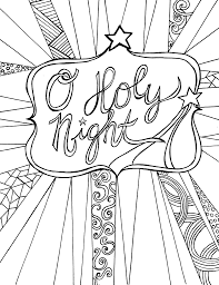 Free Adult Coloring Page Printable Christmas