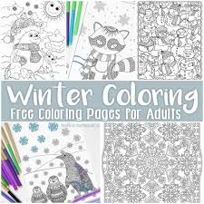 Small Picture Free Printable Winter Coloring Pages for Adults Easy Peasy and Fun