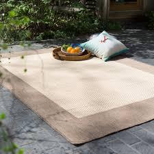 couristan recife checd field indoor outdoor area rug natural cocoa hayneedle