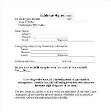 Sublease Agreement Samples Lease Agreement Template Ontario Free Rental Forms To Print Free And