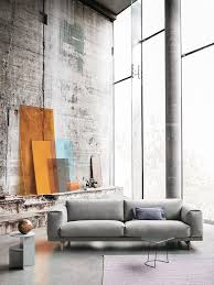 nordic furniture design. stunning concrete loft with large windows halves side table by muuto scandinavian furniture nordic design g