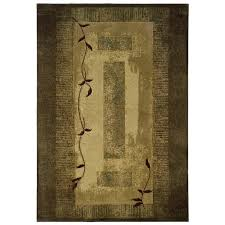 green area rugs allen roth holder green indoor nature area rug common 8 10