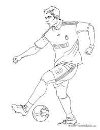 Cristiano Ronaldo Skill Coloring Pages Football