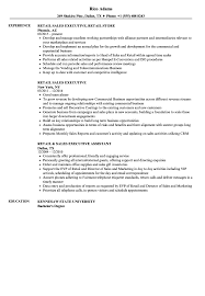 Resume Templates Retail Sales Executive Imposing Summary Of