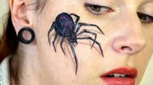 spider web halloween makeup for women