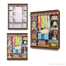 65 portable wardrobe home clothes rack shelves closet storage organizer coffee