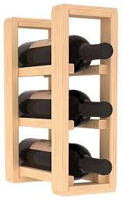 wine racks america pine 3 bottle countertop wine rack contemporary wine racks by wine racks america