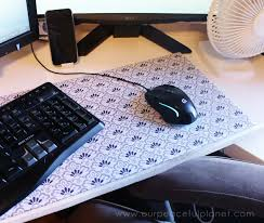 make any size and color of mouse pad with three things