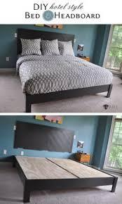 pinterest platform bed. Brilliant Platform DIY Hotel Style Headboard U0026 Platform Bed In Pinterest B