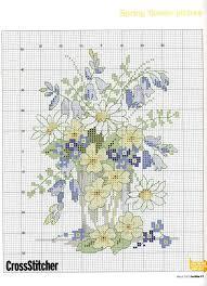 Cross Stitch Flowers Spring Flowers Free Pattern Chart