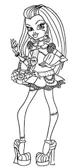 Style Frankie Stein Monster High Coloring Page Monster High