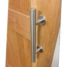 usa diy easy installation brushed stainless steel sliding barn door handle wood door