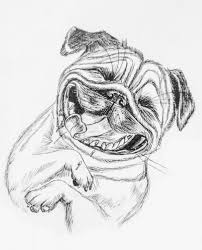 Disegno Di Un Cane In Bianco E Nero Illustrazione Di Stock
