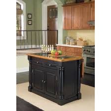 Granite Top Kitchen Island With Seating Home Styles Monarch Black Kitchen Island With Seating 5009 948