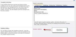 Create Sharepoint Site Template Creating A Site Collection With A Custom Site Template