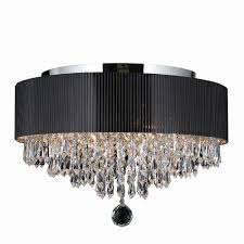 worldwide lighting gatsby 4 light chrome flushmount with clear crystal