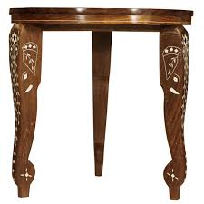 bulk source 12 hand carved decorative wooden accent table