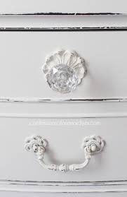 white furniture shabby chic. Pretty Glas Knobs Are Perfect For This Shabby Chic Dresser White Furniture R