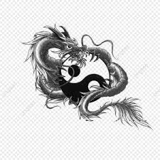 Dragon Tattoo Design Hand Draw Png и Psd файл для бесплатной загрузки