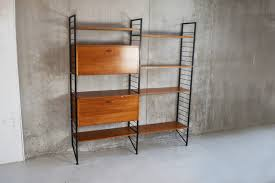 1960 s mid century ladderax by staples wall shelving unit system photo 1