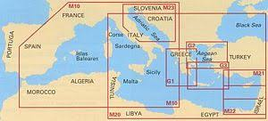 Imray Charts Mediterranean Imray Chart M10 Western Mediterranean Gibraltar To The Ionian Sea