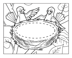 Small Picture Empty Bird Nest Coloring Page