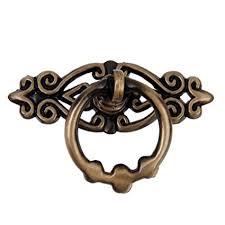 oulii vine door s drawer pull handles cabinet cupboard dresser ring pulls pack of 10 antique