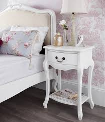Shabby Chic White Bedroom Furniture Shabby Chic White 1 Drawer Bedside Table Bedroom Furniture Direct