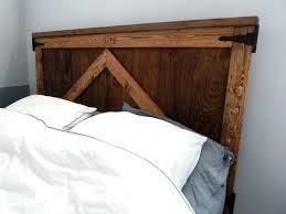 headboard barn door bed frame farmhouse