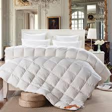 Svetanya white Goose Down Quilt luxury quilting Duvet winter ... & Svetanya white Goose Down Quilt luxury quilting Duvet winter Comforter  solid color Twin/Queen/ Adamdwight.com