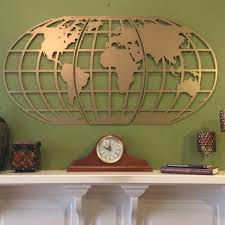 world map atlas globe metal wall art metal