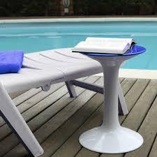 Badhocker Rund Weiß Blau Duschhocker Ablage Badezimmer Hocker Stuhl